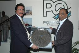 Minister of Port and Shipping Mr Babar Ghori Visit PQA Feb 2009 - 19