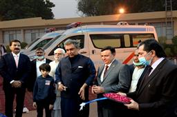 Federal Minister Inaugurated Ambulance Services - 15
