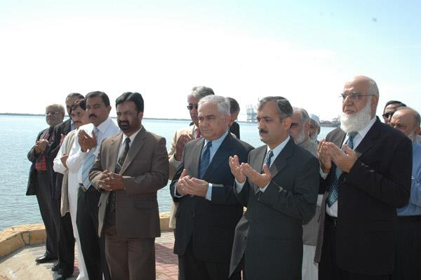 Minister of Port and Shipping Mr Babar Ghori Visit PQA Feb 2009 - 14