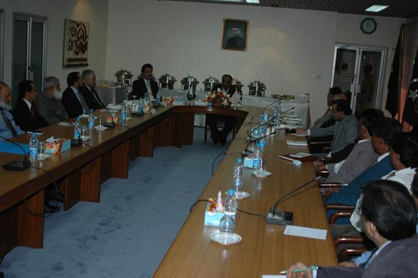 Minister of Port and Shipping Mr Babar Ghori Visit PQA Feb 2009 - 15