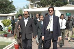 Minister of Port and Shipping Mr Babar Ghori Visit PQA Feb 2009 - 0