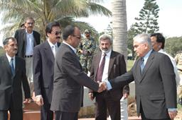 Minister of Port and Shipping Mr Babar Ghori Visit PQA Feb 2009 - 1