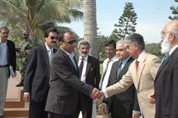 Minister of Port and Shipping Mr Babar Ghori Visit PQA Feb 2009 - 2