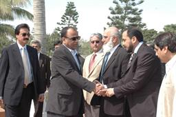 Minister of Port and Shipping Mr Babar Ghori Visit PQA Feb 2009 - 4