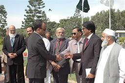 Minister of Port and Shipping Mr Babar Ghori Visit PQA Feb 2009 - 7