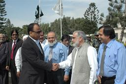 Minister of Port and Shipping Mr Babar Ghori Visit PQA Feb 2009 - 9