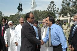 Minister of Port and Shipping Mr Babar Ghori Visit PQA Feb 2009 - 10