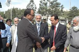 Minister of Port and Shipping Mr Babar Ghori Visit PQA Feb 2009 - 12