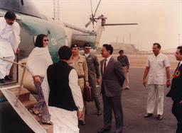 Mohterma Banezir Bhutto, Prime Minister of Pakistan visited PQA on 05th August 1989 - 4