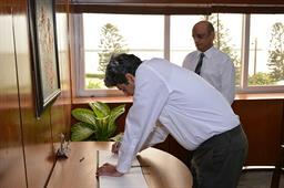 Secretary Maritime Affairs Visited PQA - 3